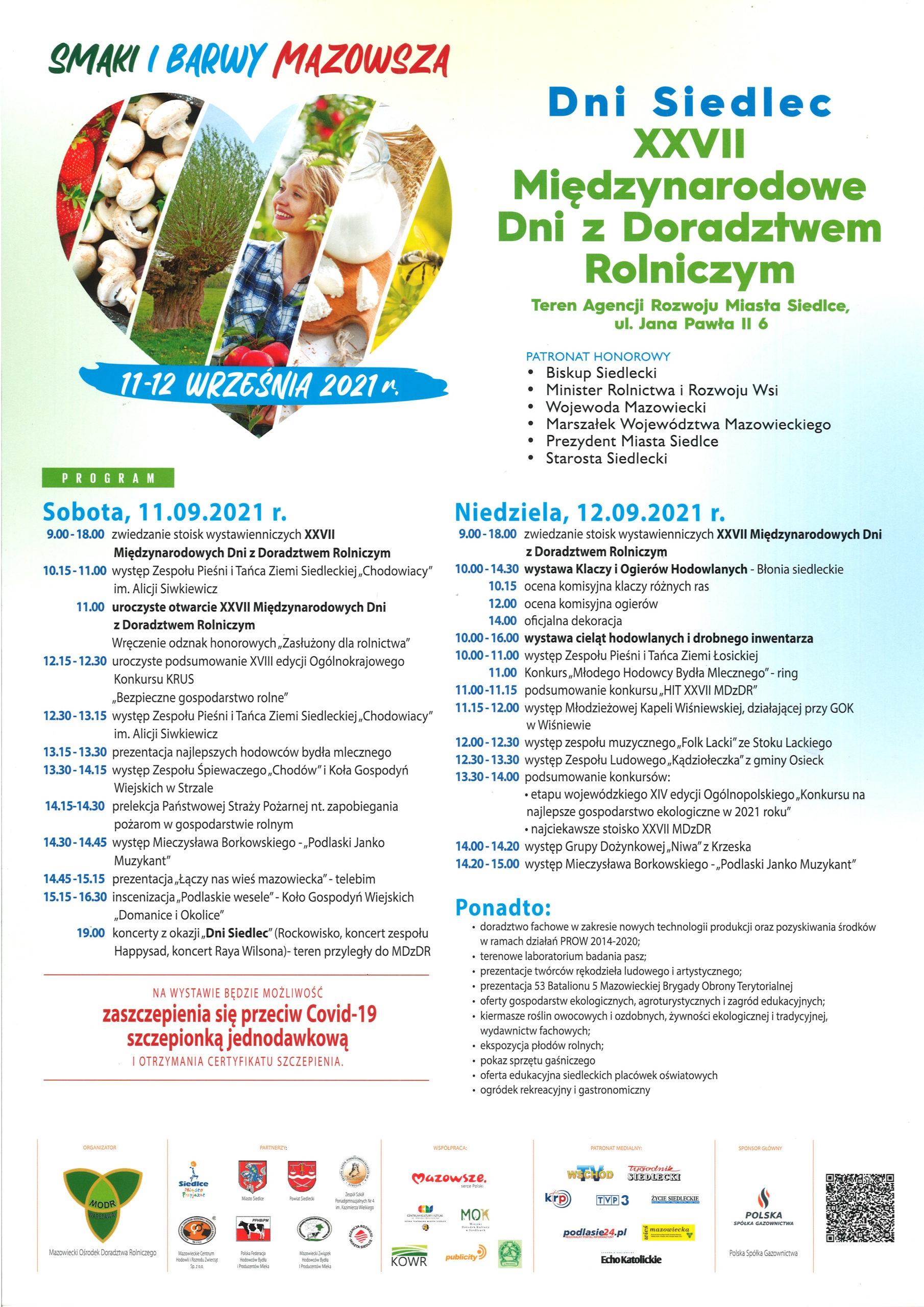 Siedlce - XXVII Międzynarodowe Dni z Doradztwem Rolniczym – 11-12 września 2021 r.